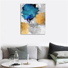 Laeacco Canvas Calligraphy Painting Abstract Watercolor Wall Artworkwork Pictures For Living Room Bedroom Decor Home Decoration