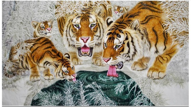 Custom High End Mural 3d Wallpaper Murals Cartoon Mural Tiger Ramen