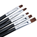 5Pieces/Set Nail Art Acrylic UV Gel Salon Pens Flat Brushes Kit Nail Art Brush Tools