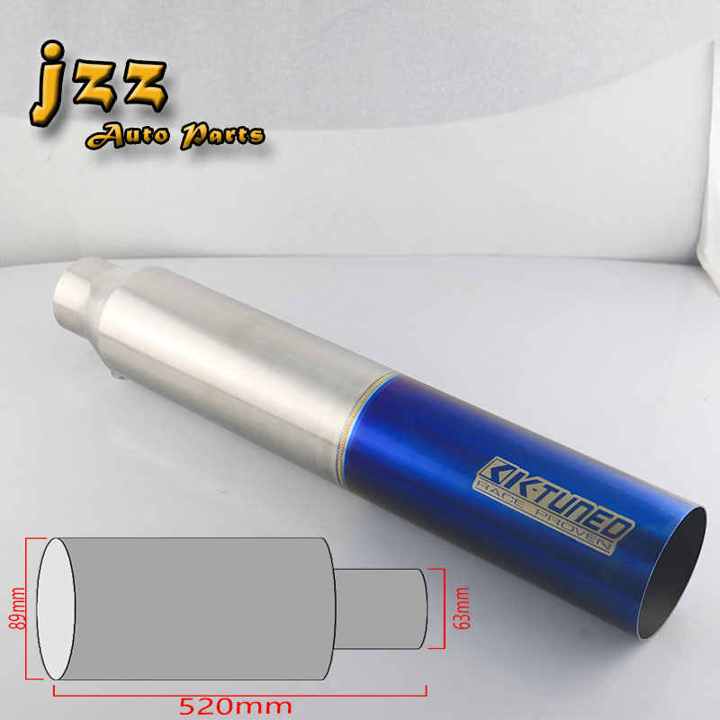 JZZ k-tuned car exhaust tip car tail pipe straight-through escape tube for  truck free shipping