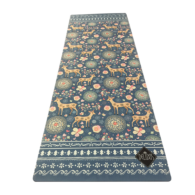 New Natural rubber sports mat fawn rubber non-slip soft comfortable yoga mat printing yoga mat fitness mat new indian mandala tapestry hippie home decorative wall hanging bohemia beach mat yoga mat bedspread table cloth 210x148cm