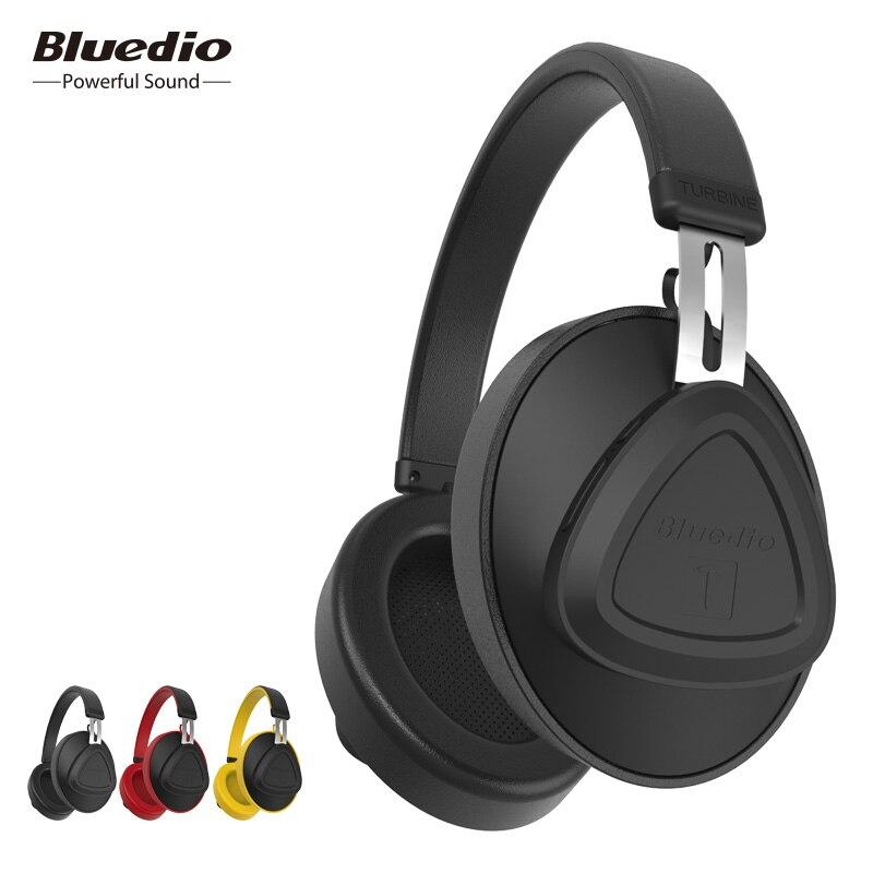 Bluedio original TM bluetooth auriculares con micrófono, control de voz sobre oído monitor studio auricular inalámbrico para teléfono