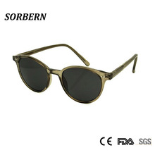 New Women Men Retro Round Sunglasses Fashion Korean Sun Glasses For Ladies Rivet Decoration Eyewear Oculos de sol Goggles UV400