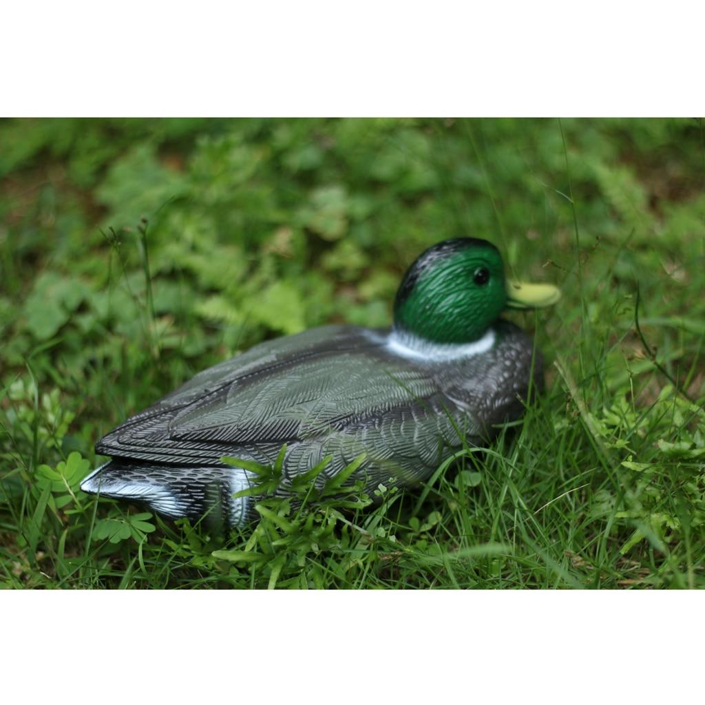 1 Pair Fishing Hunting Decoy Plastic Duck Decoy Drake Weighted Floating Keel