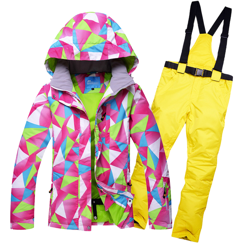2018 Women Ski Suit Windproof Waterproof Outdoor Sport Wear Skiing Snowboard Jacket Pant Super Warm Coat Trouser Suit Female Set ravensburger ravensburger пазл венеция 1000 шт