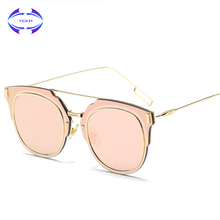 VCKA Brand 2017 The New Male Women Sunglasses Retro Metal Sunglasses Coating Fashion Sun Glasses Hot Rays UV400 Sunglass