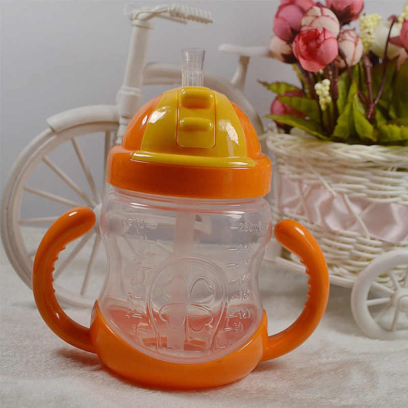 280 มิลลิลิตรขวดนมเด็กถ้วยเด็กถ้วยซิลิโคน Sippy เด็กทารกน่ารักเด็กการดื่มน้ำ biberon