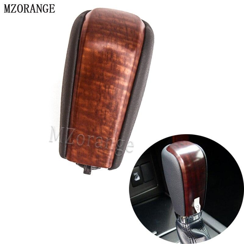 MZORANGE Wooden Color Automatic Transmission Gear Shift Knob For Toyota Land Cruiser Prado LC150 2010 2017