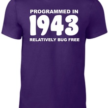 75th Birthday Gifts Programmed In 1943 Unisex Funny T Shirt Dad Mam Presents Free Shipping