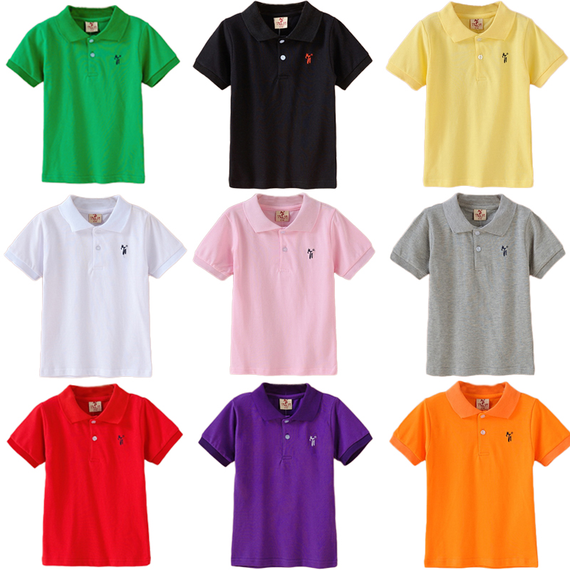 Wholesale Boys Tops Polo Shirt Kids Summer Solid Color