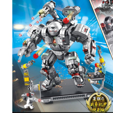 2019 Marvel Avengers Super Heroes Series War Machine Buster  Marvel Iron man  Building Blocks Movie цена 2017