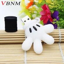 VBNM  Mickey Mouse glove usb flash drive pendrive 4GB 8GB 16GB 32GB