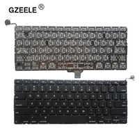 GZEELE nouveau 2009 2010 2011 2012 an A1278 ordinateur portable US clavier anglais pour Macbook Pro A1278 disposition du clavier remplacer sans cadre