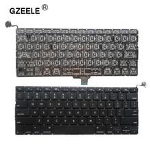 Novo 2009 2012 do teclado do portátil dos eua para a substituição do macbook pro a1278 da apple