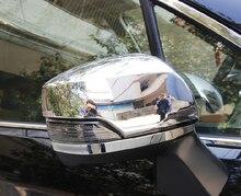 2pcs ABS Chrome Fashion Rear View Car Wing Mirror Rearview Cover Trim For Subaru XV 2012 2013 2014 2015