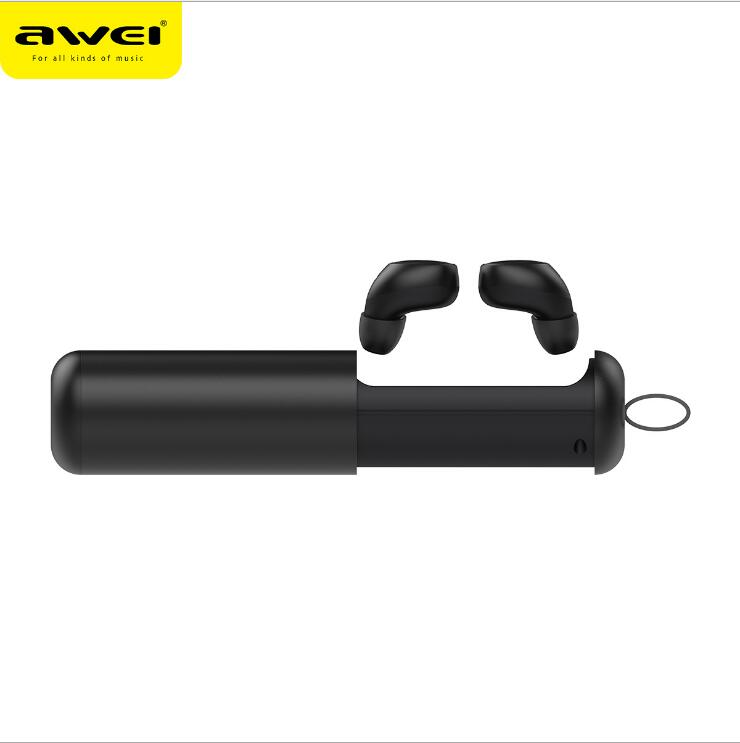 Écouteurs Bluetooth AWEI T5 TWS avec Microphone Mini écouteurs sans fil Bluetooth 5.0 casque mains libres