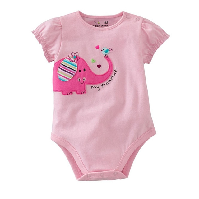 7ec0f52675d1 My Peanut Pink Elephant Body Baby Girl Romper Summer Jumpsuit Kids Overalls  Macacao Bebe Children Girls Clothes Infant Clothing