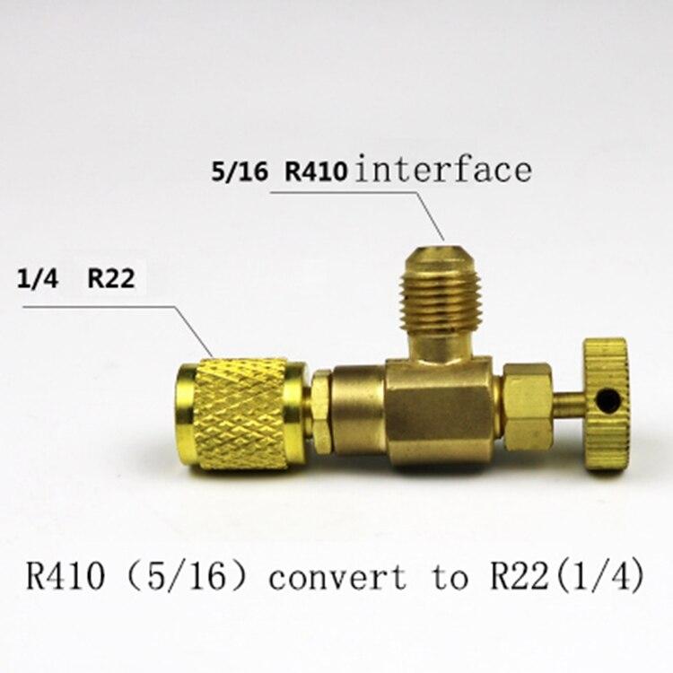 R22/R410 холодильное зарядное устройство адаптер соединитель жидкостное дополнение аксессуары домашний Холодильный инструмент для предохранительного клапана услуги - Цвет: As show