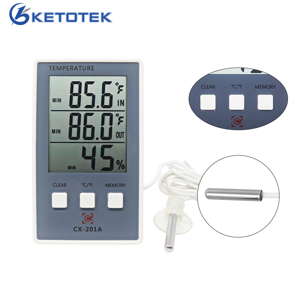 60m Digital/_LCD Thermometer Hygrometer Home Indoor Outdoor/_Temperature Humidity