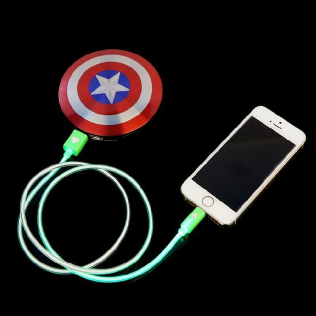 Новогодний подарок роскошные Капитан Америка Power Bank 7000 мАч Высокое Качество Внешний Вызов Po мобильного Powerbank портативное зарядное
