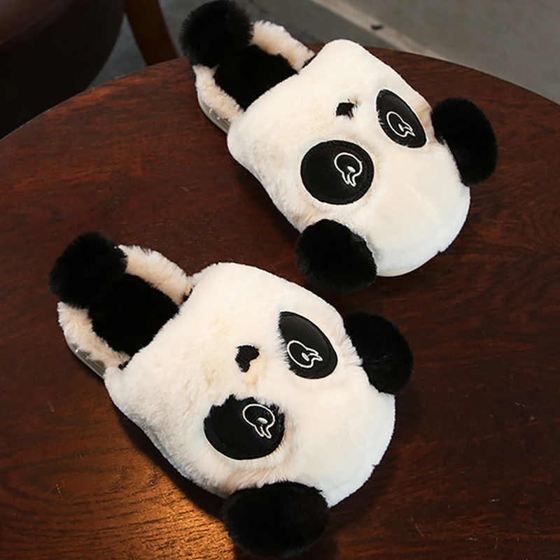 2018 Women slippers corduroy panda designer cheaper plush home shoes women  comfortable warm non-slip 55d1471a3