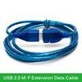 Universal 1 m 1.5 m 2 m 3 m USB Cabo de Extensão USB 2.0 Macho para Fêmea Extensão Cabo de Dados Adaptador de Conector do Cabo de Sincronização de Dados Local
