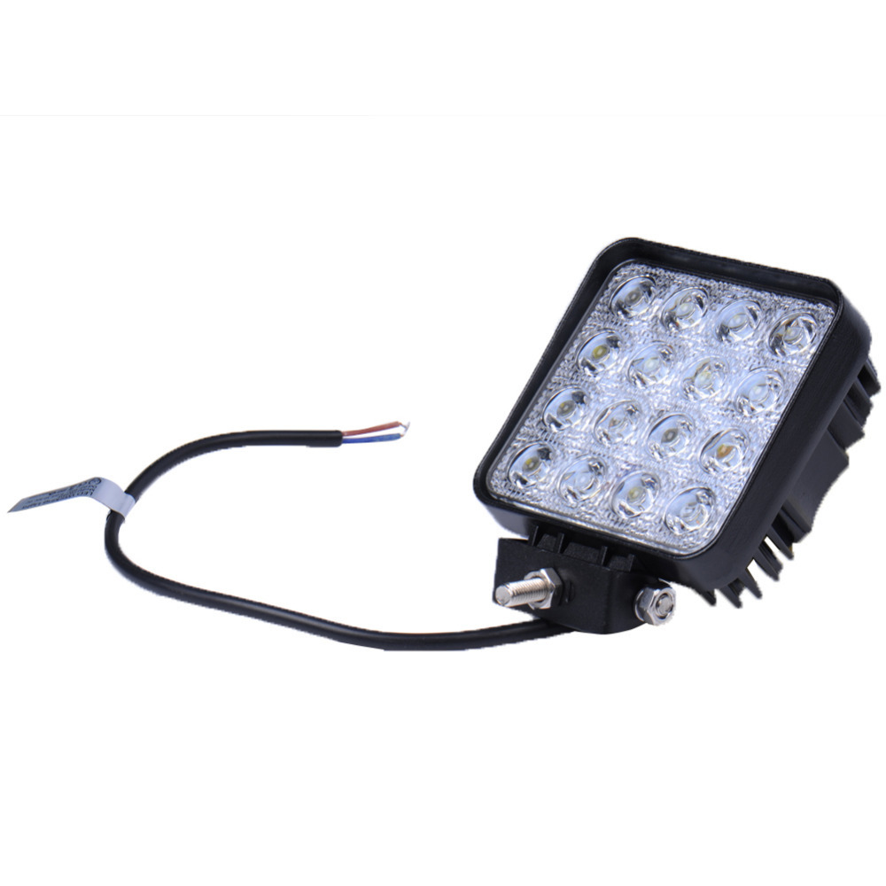 8PCS LED Spotlight 48W Square Car Work Light Bar For Truck SUV Båt Fiske IP67 Vanntett Bil styling Outdoor Lighting