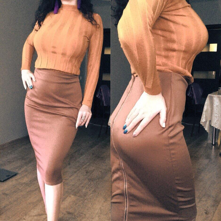 2b7c0b44f84 2018 Elastic Waist Bodycon Midi Skirt High Waist Pencil Skirt Women With  Full-Length Back Zipper White Pencil Skirt