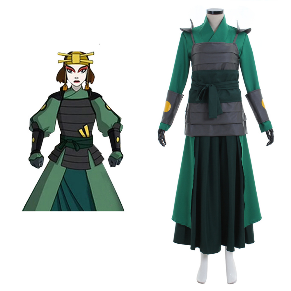 Avatar The Last Airbender Kyoshi Warriorsm Cosplay Costume Halloween Carnival Cosplay Costume For Women