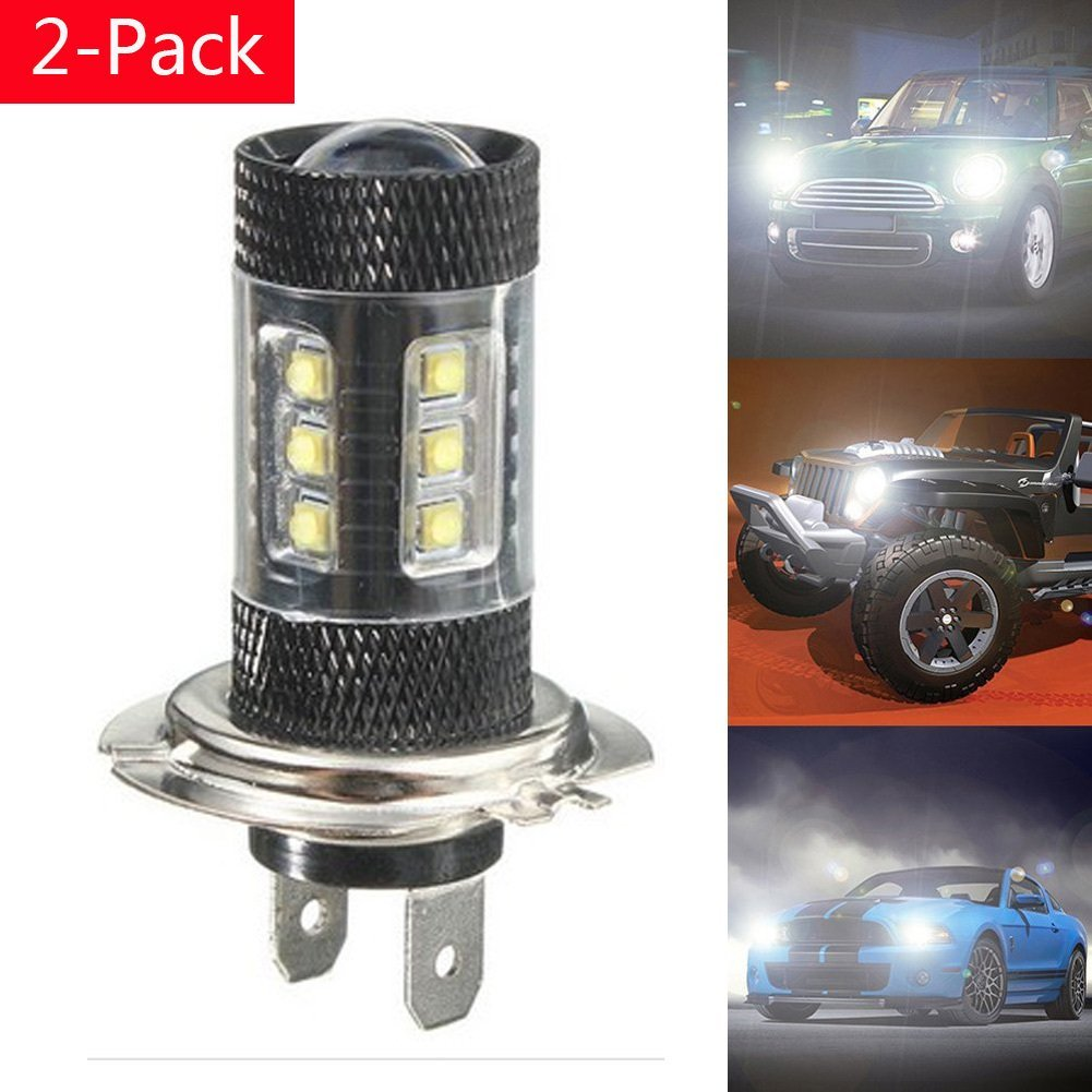 2 stücke H7 80 Watt CREE Chips WEIß Led lampen 16 SMD LED Lauf Lampe ...