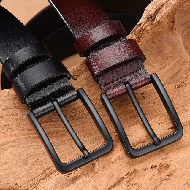 Genuine cow leather luxury strap male belts 2