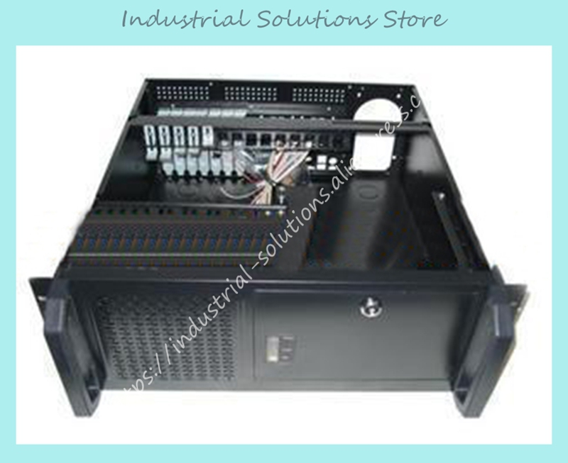 New 4U 450 Industrial Computer Case Server Computer Case Hard Drive Computer Case new 3u ultra short 3u computer case 380 3u industrial computer case 7 hard drive aluminum panel