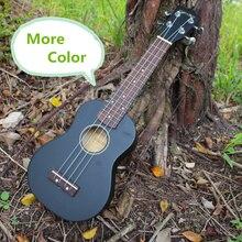 More color Soprano Black Ukulele Video Evaluation Audition 21 Inch Mini 4 Strings Ukelele Guitarra Guitar Black Handcraft Uke