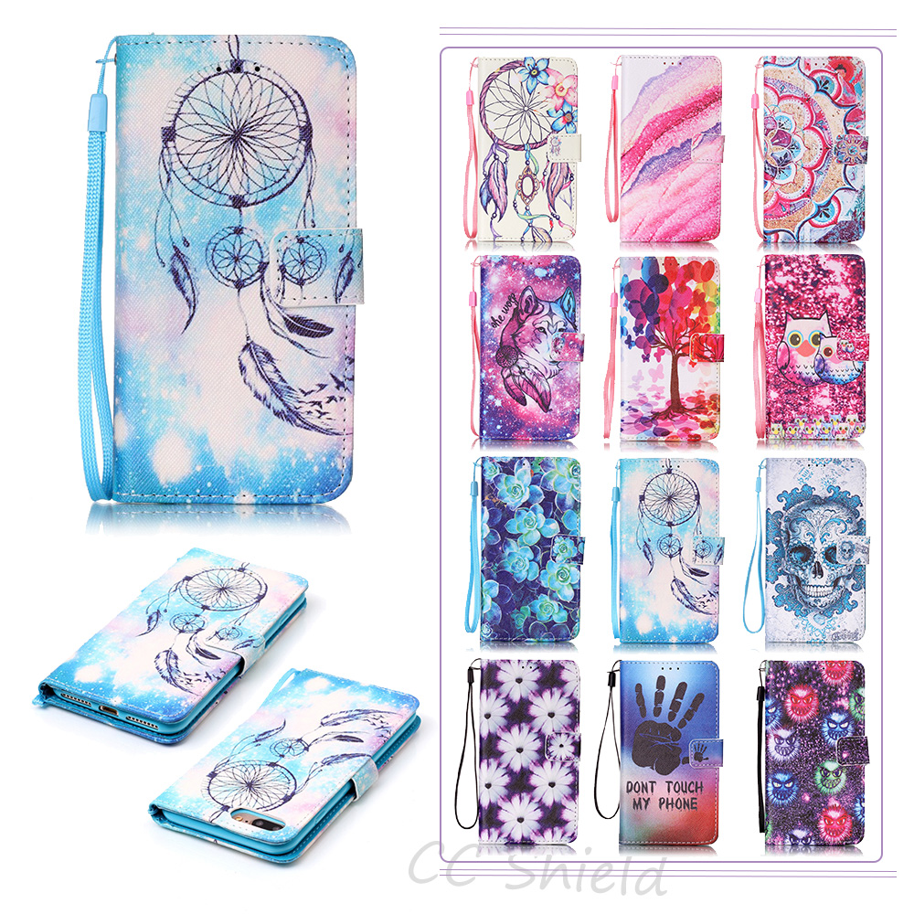 Magnetic Flip Case for Apple 7 Plus iPhone 7Plus luxury Painting Case Phone Leather Cover for Apple IPhone 7 Plus IPhone7Plus