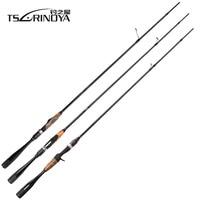 TSURINOYA AGILE L/ML Power 2 Secs 1.95m 2.01m Casting Spinning Fishing Rod Fast Action FUJI Guide Ring Reel Seat Carbon Fiber