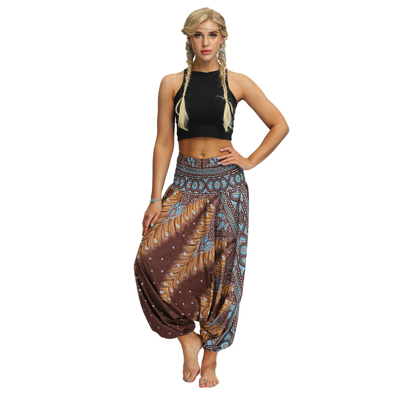 Female Harem   Pants   Oversized Loose Sarouel 2019 Boho Chic Print Casual Dance Sports Trousers Women   Wide     Leg     Pants