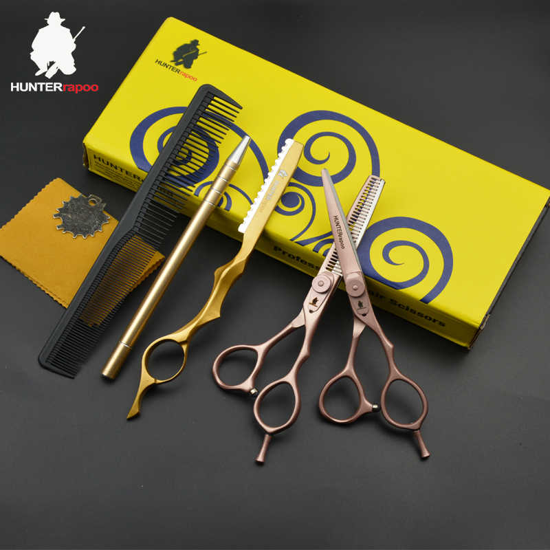 30% OFF 5.5 Inch Professional Hair Cutting Scissors Set For hairdresser Thinning Shear Hairdressing Trimmer Clipper Shears Set