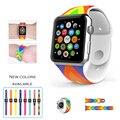 Urvoi band para apple watch série 1 2 cinta esporte para iwatch novo design de pulso pin-and-fechamento tuck silicone colorido substituição