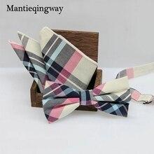 Mantieqingway Англия Стиль Для мужчин плед бабочкой Карманный площадь платок Наборы для ухода за кожей для Костюмы Бизнес платок Полотенца галстук-бабочка комплект