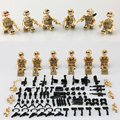 New LegoINGlys Red Sea Action Military SWAT City Police Minifigure Special Forces Weapons Building Blocks Mini Figures Toys