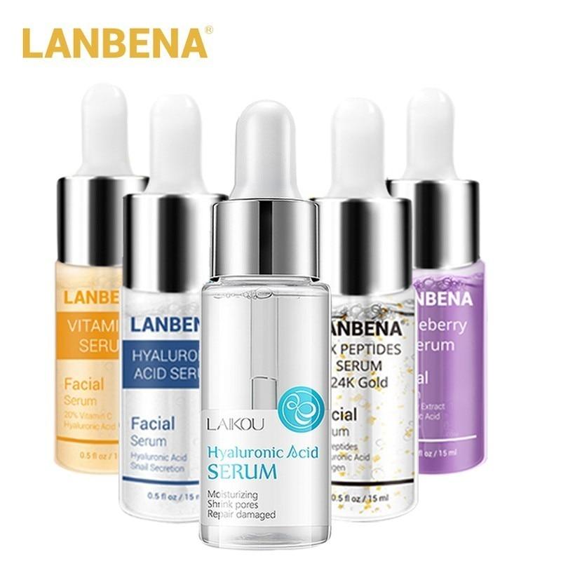 LANBENA Hyaluronic Acid Serum Snail Face Cream Shrink Pores Moisturizing 24K Gold Acne Treatment Repair Whitening Skin Care
