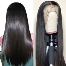 180% Lace Front Human Hair Wigs Straight Pre Plucked Hairline Baby Hair 10- 24 Inch Brazilian Remy Human Hair Lace Frontal Wigs(China)