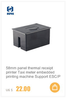 Pos thermal panel receipt printer 58mm embedded printing machine QR24 for Taxi meter Support ESC/POS command TTL and USB port