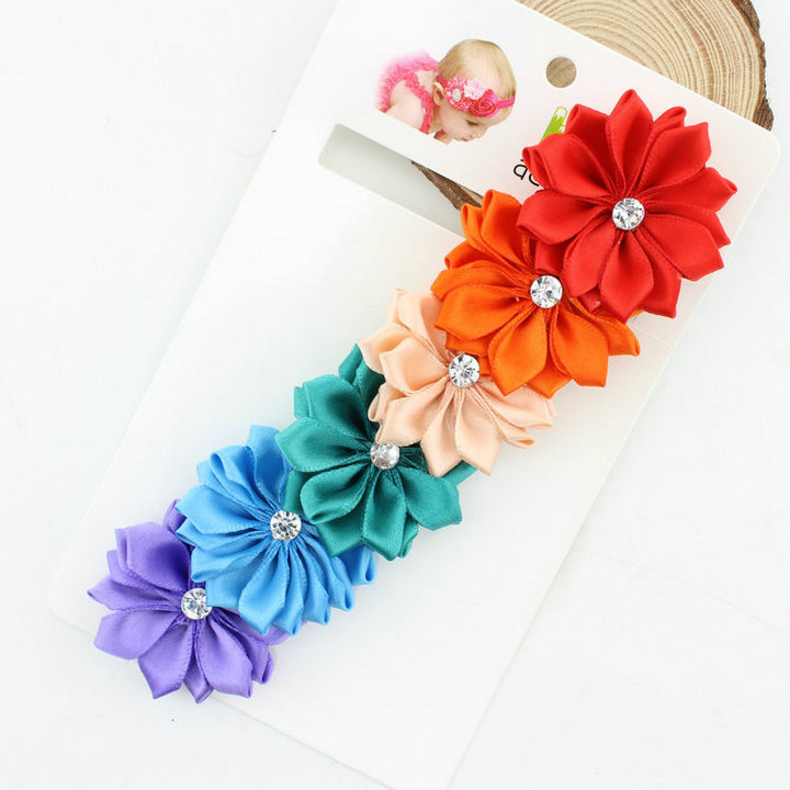 Baby Headband Ribbon Handmade DIY Toddler Infant Kids Hair Accessories Girl Newborn Flower floral Turban Elastic tiara bandage 20pcs lot girl hair bow headband for newborn infant toddler hair accessories diy grosgrain ribbon bow elastic hair bands