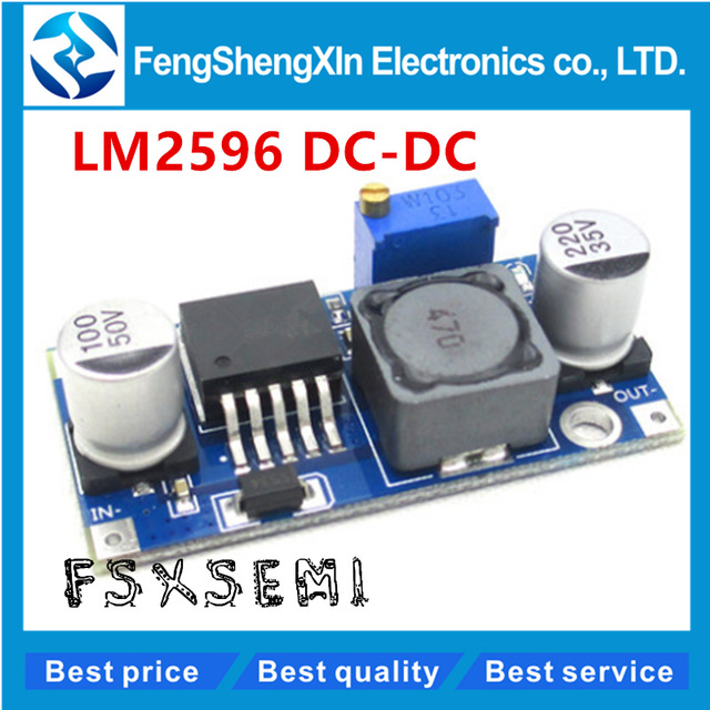 5pcs/lot New LM2596 DC-DC Step Down Converter Module DC 4.0~40 to 1.3-37V Adjustable Voltage Regulator Hot sale