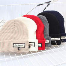 Knitted Hat CC Women Winter Beanies Unisex Casual Hats & Caps Men Solid Hip-Hop Skullies Beanie Warm Bonnet Fashion Female