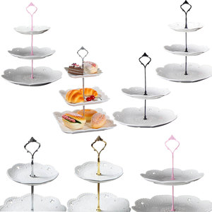 Image 1 - 2/3 Layers Crown Cake Plate Stand Desserts Pastry Rack Holder Fitting Wedding Without Plate Cake Tools Decor