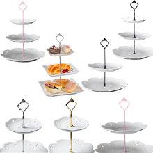 2/3 strati Corona Cake Piatto Del Basamento Dessert Pasticceria Cremagliera di Montaggio Da Sposa Senza Piastra Attrezzi Della Torta Decorazione