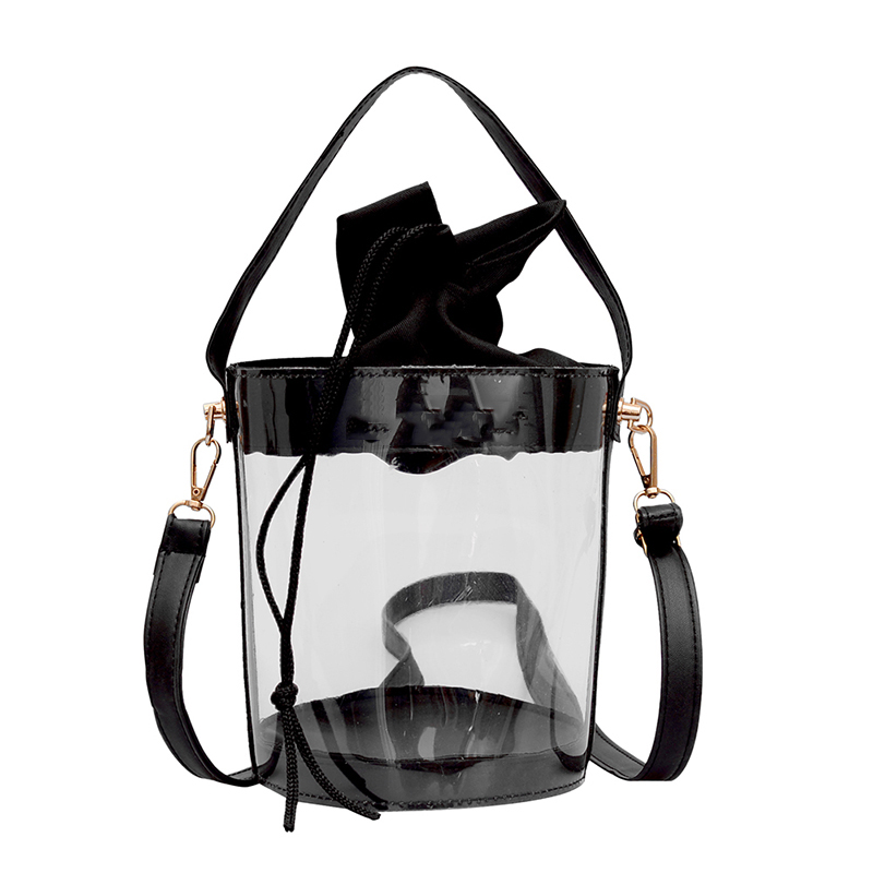 Clear Transparent PVC Women Messenger Crossbody Bag Candy Color Jelly Summer Beach Bag Women Shoulder Bags Handbag Sac A Main