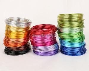 Image 2 - Bobina de alambre suave para manualidades, aluminio de colores, 55m, 180 pies, 60 yardas, 2mm, calibre 12, alambre para suministros de joyería, envío gratis